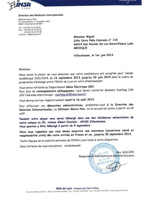 carta de aceptacion para universidad 365 d 237 as en francia lleg 243 mi carta de aceptaci 243 n