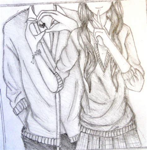 anime couple hugging anime couple hugging drawings in pencil www pixshark com