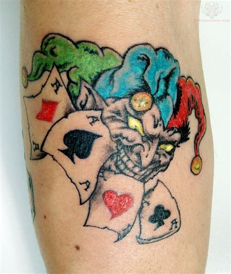 free joker tattoo designs casino joker tatuaggio