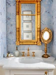 gold mirror bathroom ornate gold mirror transitional bathroom tuttle