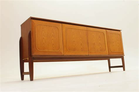 furniture brown wooden mid century cabinet with sliding