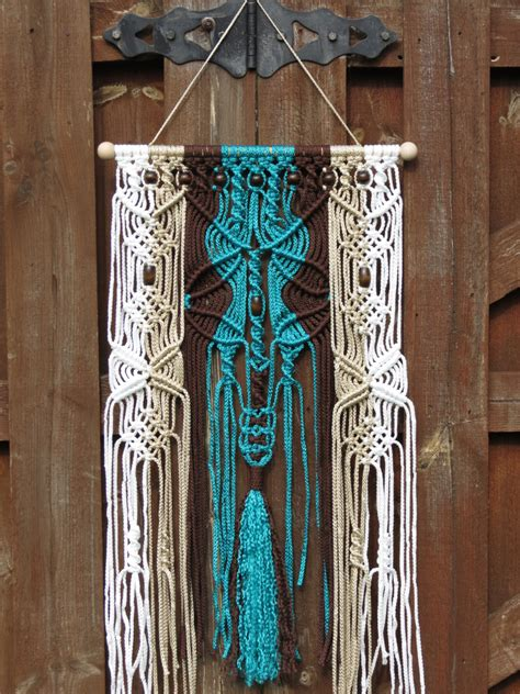 Macrame Wall Hangings - macrame wall hanging turquoise macrame wall by