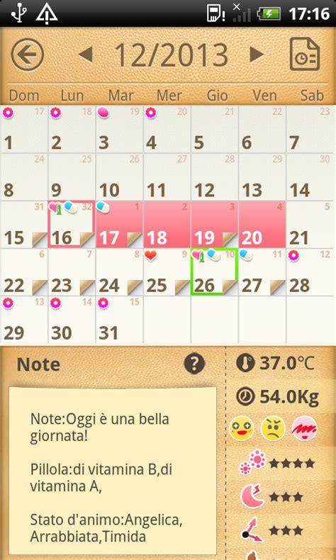 Calendario Mestruale Il Mio Calendario Mestruale App Android Su Play