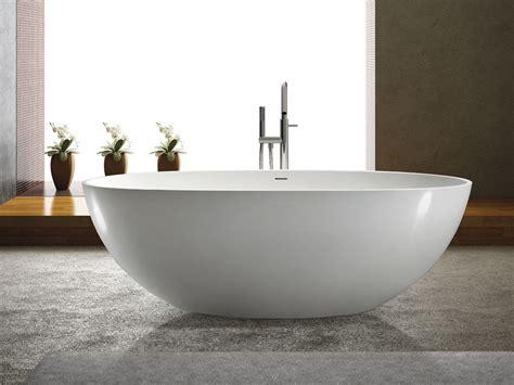 freistehende ovale badewanne freistehende badewanne piemont aus mineralguss wei 223 matt