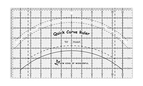 printable quilting ruler 1 quick curve ruler 169 25 00 sew kind of wonderful