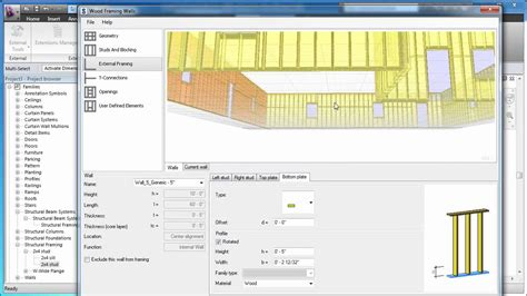 wood pattern revit an overview of revit wood wall framing extension youtube