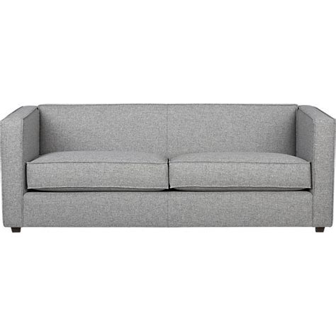 cb2 loveseat club grey sofa cb2