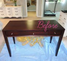 Vanity Table Goodwill Livelovediy Diy Thrift Store Desk Makeover Using Silver