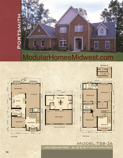 2 Story Modular Home Floor Plans by Modular Homes Illinois Photos