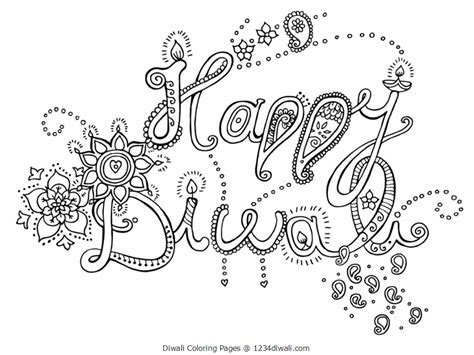 diwali colouring pages for kids acticity diwali 2017