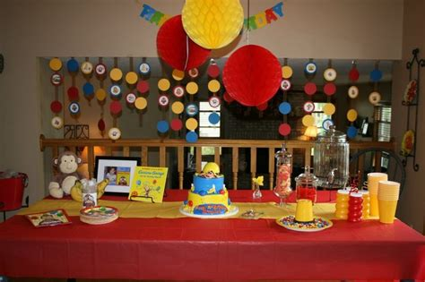 Curious George Decorations by Curious George Birthday Ideas