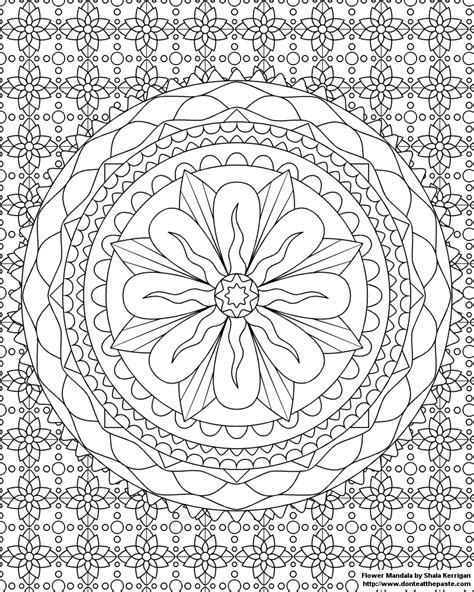 mandala flower coloring pages difficult don t eat the paste mandalas coloring pages