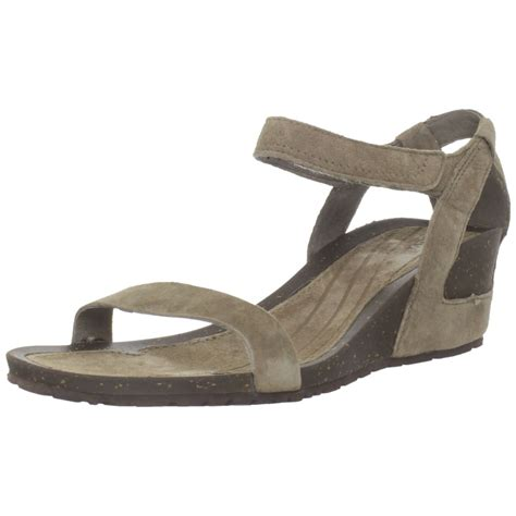 teva wedge sandals teva womens cabrillo wedge sandal in brown walnut lyst