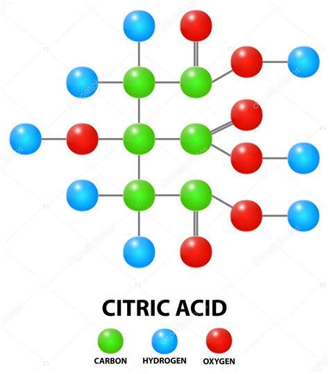acido citrico alimentare acido citrico formula molecola chimica vettoriali stock