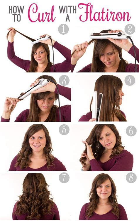 How To Curl Hair by Style A Curly Hair With Your Flat Iron Pretty Designs