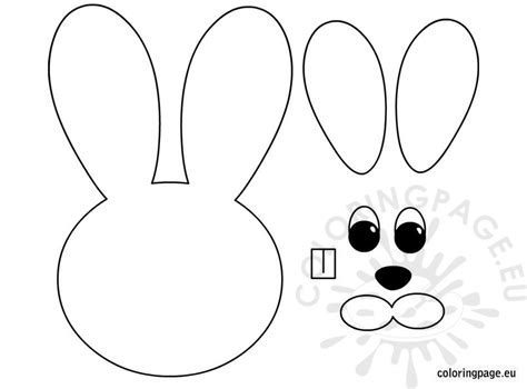 easter bunny face coloring pages to print easter bunny paper craft coloring page
