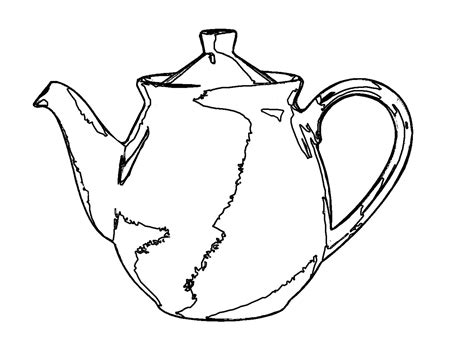 Free Coloring Pages Of A Teapot Outline Teapot Coloring Page