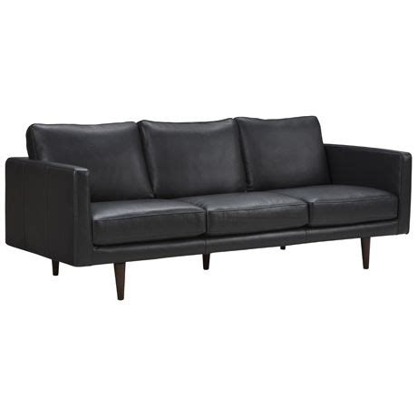 Freedom Leather Sofas by Studio 3 Seat Sofa Universal Black 1 444 Scandinavian Inspired Studio Leather Sofa From Freedom
