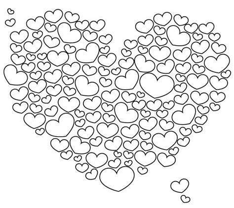Adult Coloring Pages Hearts Page Love  Cloud Of sketch template