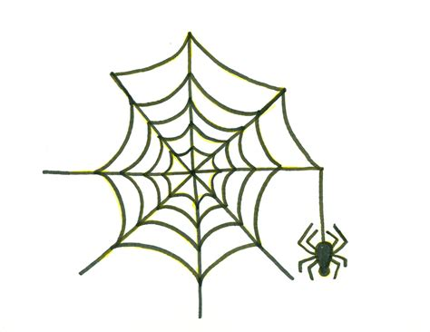 drawing web how to draw spider web
