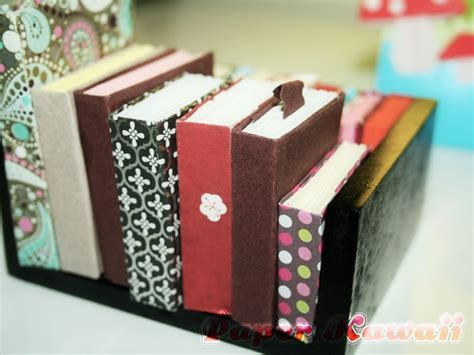 Mini Origami Book - mini origami books tutorial paper kawaii