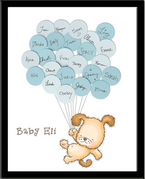 puppy themed names puppy dog themed baby shower guestbook print boy