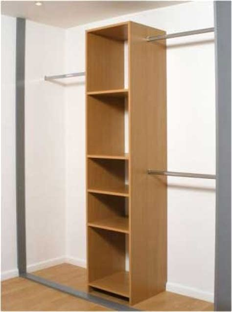 Closet Rails by The Hanging Rails Combined With The Bedside Cupboard