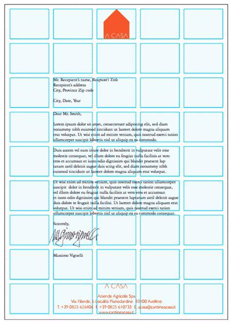 gabbia tipografica carta intestata la progettazione secondo vignelli