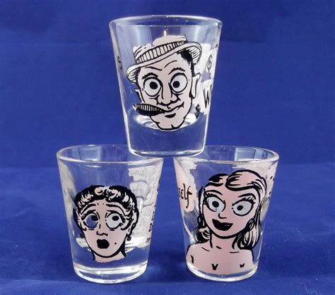 vintage barware glasses vintage shot glasses funny sayings barware by