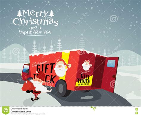 2018 christmas gifts for truckers gift truck for and new year celebration stock illustration illustration of