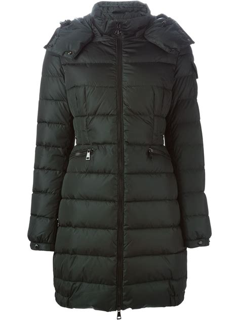 Padded Coat moncler charpal padded coat in green lyst