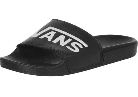vans house shoes vans slide on bath slippers black