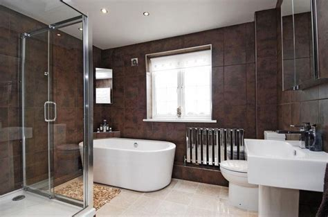 Modern Brown Bathroom Ideas Brown White Shower Design Ideas Photos Inspiration