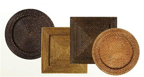 event essentials hawaii woven rattan chargers
