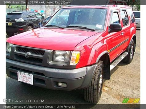 aztec red 2000 nissan xterra se v6 4x4 dusk interior gtcarlot com vehicle archive 29536533