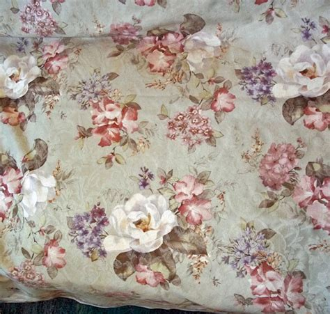 cabbage rose upholstery fabric vintage culp pastel cabbage rose upholstery fabric 5 yards