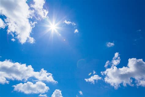 wolken le sun clouds blue sky free stock photo domain pictures