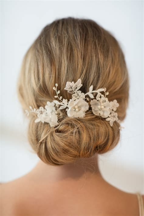 wedding hair pins bridal hair pins flower wedding hair pins - Wedding Hair Flowers Pins