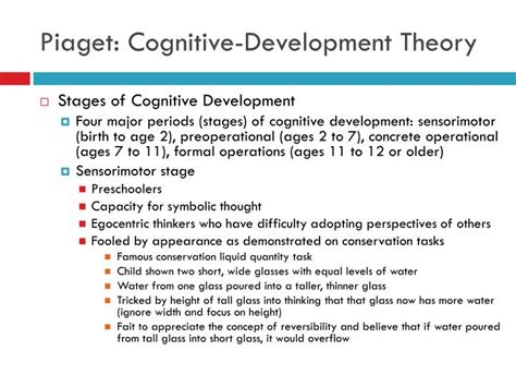 Cognitive Development Theory Ppt Theories Of Human Development Powerpoint