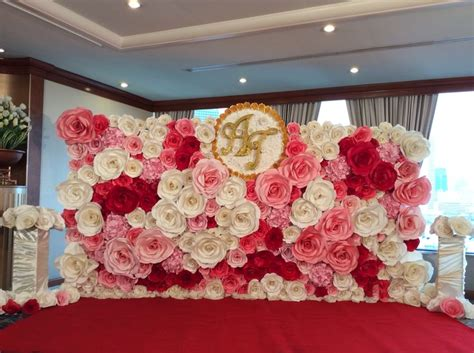 Wedding Backdrop Paper Flowers by Paper Backdrop Paper Flower Paper Wedding Paper Flower