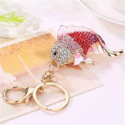Found Bling Tastic Rhinestone Keyrings by Popular White Goldfish Buy Cheap White Goldfish Lots From