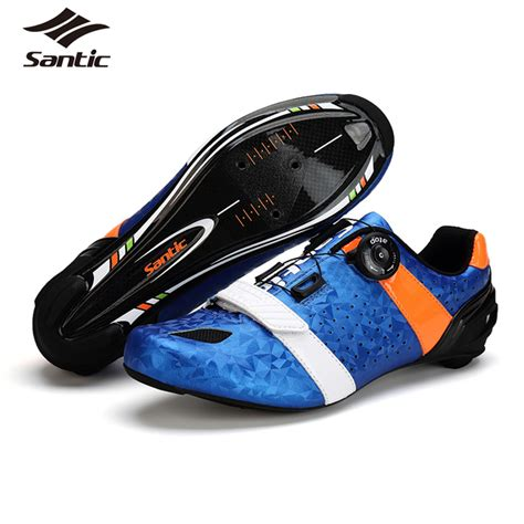 mens road bike shoes santic road cycling shoes ultralight carbon fiber road