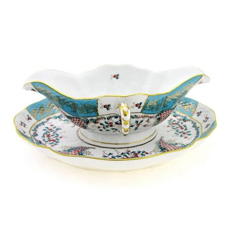 gravy boat plate herend cornucopia gravy boat with under plate antique