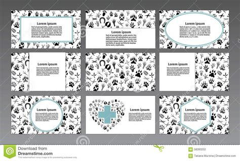 Animal Identification Card Template by Vector Logo For A Pet Store Veterinary Pet Shop Animal