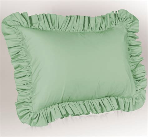 Pillow Sham by Solid Ruffled Pillow Sham Ebay