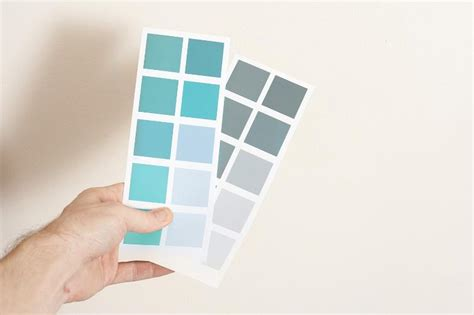 free image of two cards with sle paint color swatches