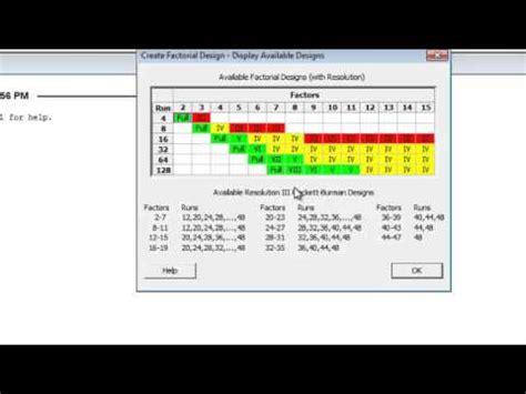 youtube experimental layout minitab screening experiment design youtube
