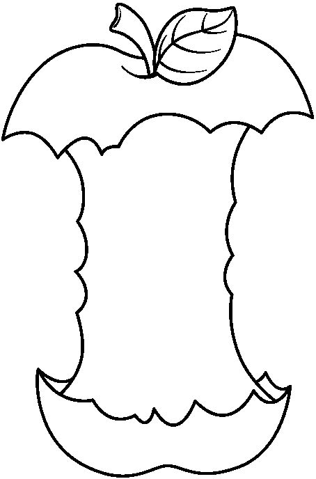 apple core coloring page apple core black and white clipart