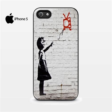 Iphone 6 6s Banksy Balloon Custom Casing Cover banksy balloon tv floating iphone 5 5s cover cases covers skins