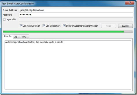 email tester outlook 2010 test email auto configuration